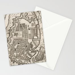 Vintage Map of Copenhagen Denmark (1764) Stationery Cards