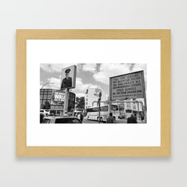 Checkpoint Charlie Berlin Framed Art Print