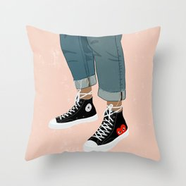 Hidden Heart - All Star Converse Throw Pillow