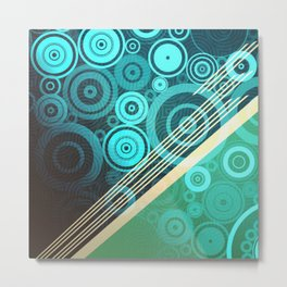 Circles and round colorful Metal Print