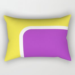 Yellow loves Lila Rectangular Pillow