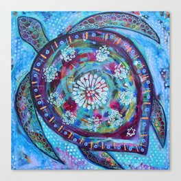 She Turtle Canvas Print