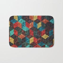 Colorful Isometric Cubes Bath Mat