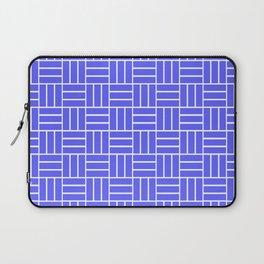 Basketweave (White & Azure Pattern) Laptop Sleeve