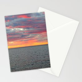 Pink Skies and Virga on the Sea Stationery Cards