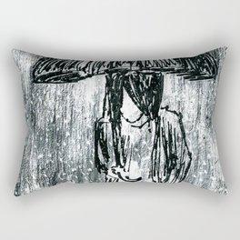 Umbrella Sketch Rectangular Pillow