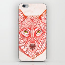 Red wolf iPhone Skin