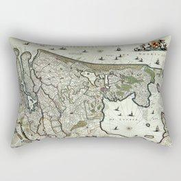 Map Of Holland 1682 Rectangular Pillow