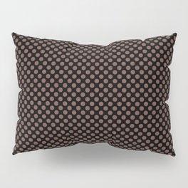 Black and Root Beer Polka Dots Pillow Sham