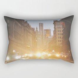 New York City Evening Lights Rectangular Pillow