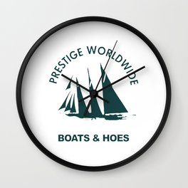 BOATS N HOES Wall Clock