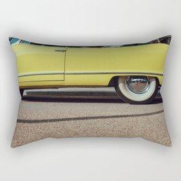 Retro yellow car Rectangular Pillow