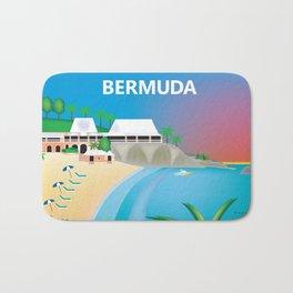 Bermuda - Skyline Illustration by Loose Petals Bath Mat
