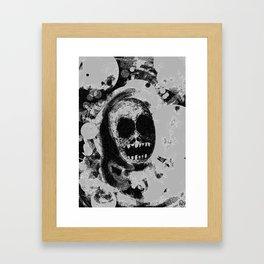 Fadin' grey Framed Art Print
