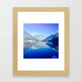 Reflection Mountain Framed Art Print