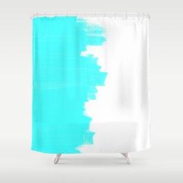 Shiny Turquoise balance Shower Curtain