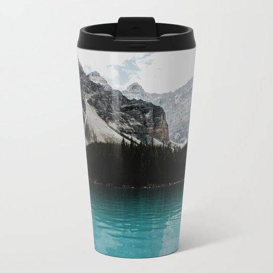 Lake Moraine, Banff National Park Metal Travel Mug