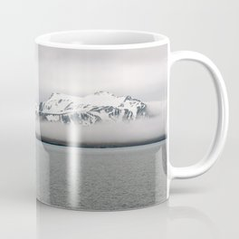 Fog between Arctic Ocean and glacier mountains Coffee Mug
