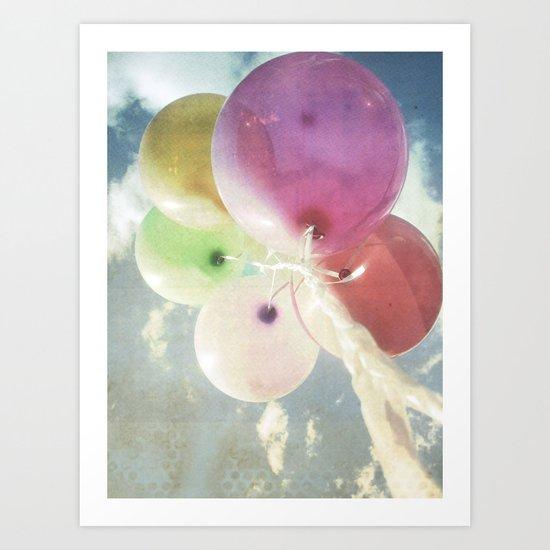 party balloons Art Print