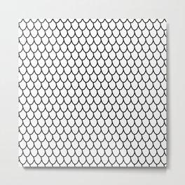 Half Oval Pattern Metal Print