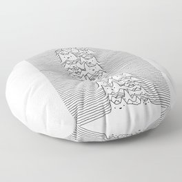 Furr Division White Floor Pillow