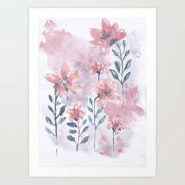 Watercolor Floral #1 Art Print