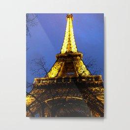 Eiffel Among the Trees Metal Print