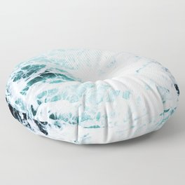 Water, Sea, Ocean, Wave, Blue, Nature, Modern art, Art, Minimal, Wall art Art Print Floor Pillow