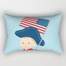 US flag held high for those who died - Patriot Day - September 11 Rectangular Pillow