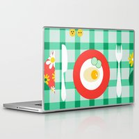 breakfast Laptop & iPad Skins featuring breakfast by vitamin