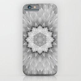 Daisy Sunflower Black & White Gray iPhone Case