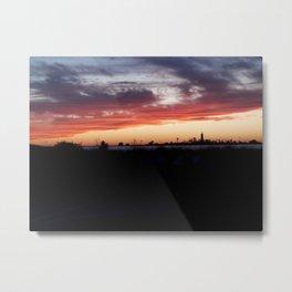 Southampton South Beach Sunset Metal Print
