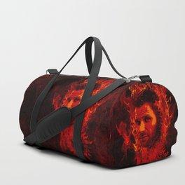 Lucifer in flames Duffle Bag