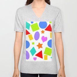 Shapes and Colors Unisex V-Neck