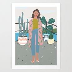 at MARI's Veranda art print, aloha, plant, girly art print Art Print