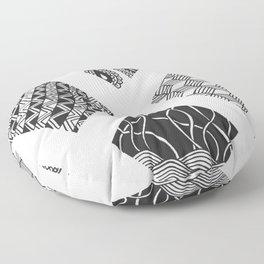 Diamond Zentangles Floor Pillow