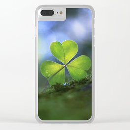 Lonely Wood Sorrel Clear iPhone Case