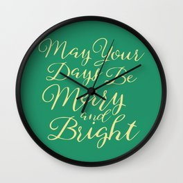 Merry wishes Wall Clock