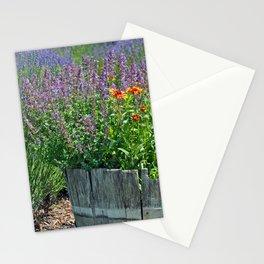 Summer flower planter Stationery Cards