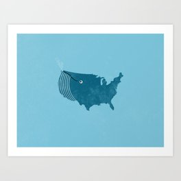 AmeriWhale The Beautiful Art Print