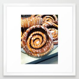 sweet roll sundays Framed Art Print