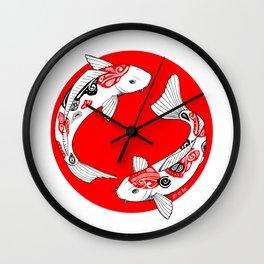 Japanese Kois Wall Clock