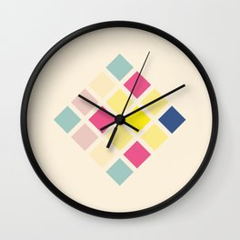 Rona - Colorful Abstract Art Pixel Pattern Wall Clock