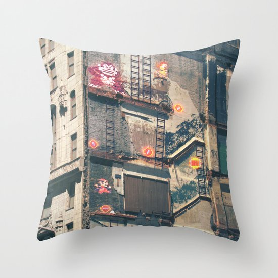 Building Kong Throw Pillow