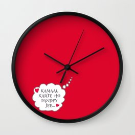 Bollywood Masala Wall Clock