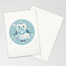 Apollo 11 Lunar Lander Module - Text Sky Stationery Cards