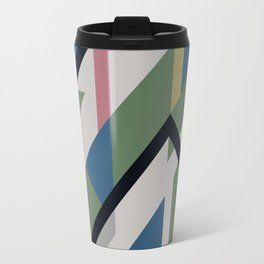 Modernist Dazzle Ship Camouflage Design Travel Mug