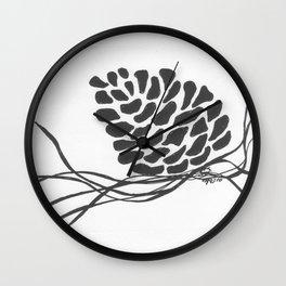 Pine Cone Wall Clock