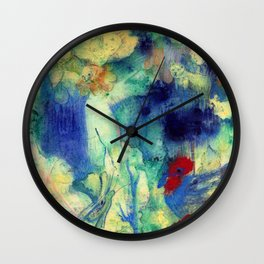 Fairy with Red Flowers Wall Clock