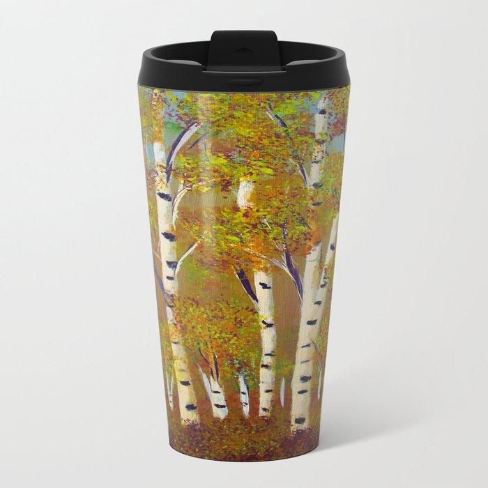 Birch trees-3 Metal Travel Mug